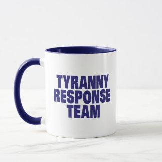 Equipo de la respuesta de la tiranía taza
