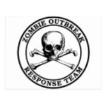 Equipo de la respuesta del brote del zombi (bander postales