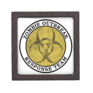 Equipo de la respuesta del brote del zombi Biohaz Cajas De Recuerdo De Calidad