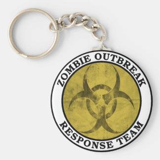 Equipo de la respuesta del brote del zombi (Biohaz Llavero Redondo Tipo Pin