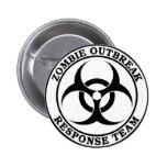 Equipo de la respuesta del brote del zombi (Biohaz Pins