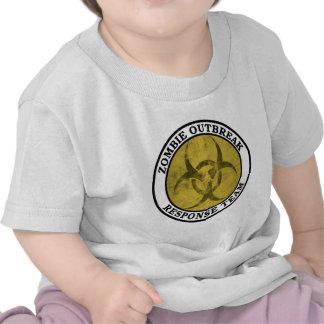 Equipo de la respuesta del brote del zombi Biohaz Camisetas