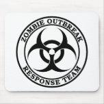 Equipo de la respuesta del brote del zombi (Biohaz Tapetes De Raton