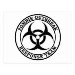 Equipo de la respuesta del brote del zombi (Biohaz Tarjetas Postales