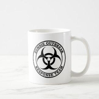 Equipo de la respuesta del brote del zombi Biohaz Taza De Café