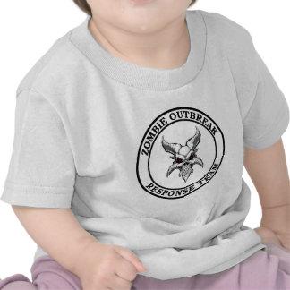 Equipo de la respuesta del brote del zombi (Demonh Camisetas