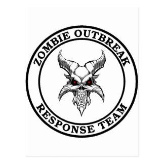 Equipo de la respuesta del brote del zombi Demonh Tarjetas Postales