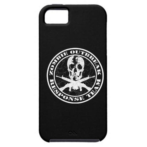 Equipo de la respuesta del brote del zombi iPhone 5 Case-Mate carcasa
