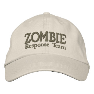 Equipo de la respuesta del brote del zombi gorra bordada