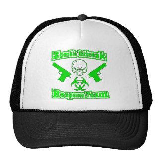 Equipo de la respuesta del brote del zombi gorras