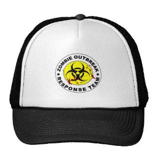Equipo de la respuesta del brote del zombi gorras de camionero