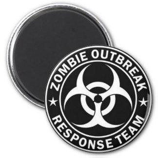 Equipo de la respuesta del brote del zombi imán redondo 5 cm