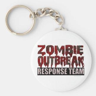 Equipo de la respuesta del brote del zombi llavero redondo tipo pin