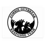 Equipo de la respuesta del brote del zombi (manos  tarjetas postales