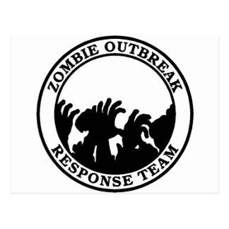 Equipo de la respuesta del brote del zombi (manos postal
