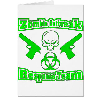 Equipo de la respuesta del brote del zombi tarjeta de felicitación