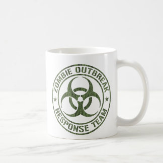 Equipo de la respuesta del brote del zombi taza