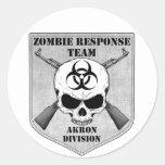 Equipo de la respuesta del zombi: División de Akro Pegatinas Redondas