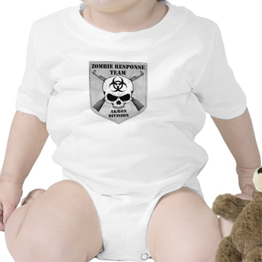 Equipo de la respuesta del zombi: División de Akro Traje De Bebé