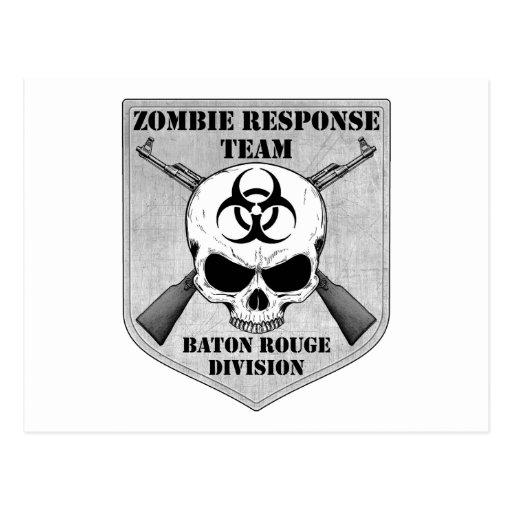 Equipo de la respuesta del zombi: División de Bato Tarjetas Postales