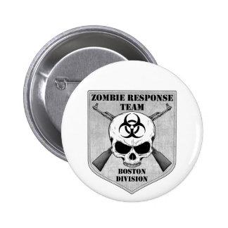 Equipo de la respuesta del zombi: División de Bost Pin Redondo De 2 Pulgadas