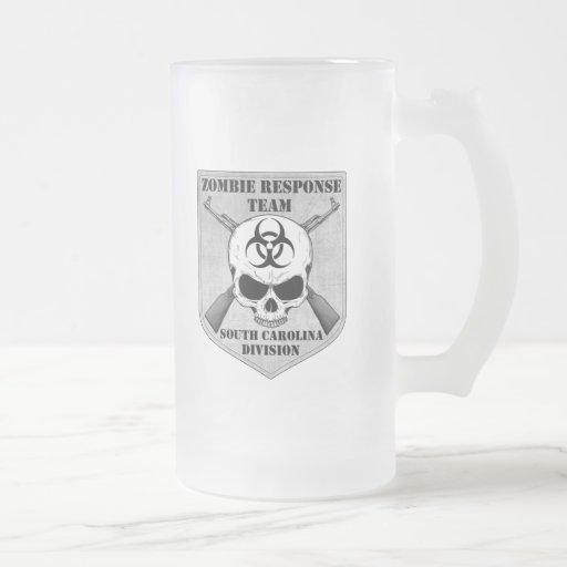 Equipo de la respuesta del zombi: División de Caro Taza Cristal Mate