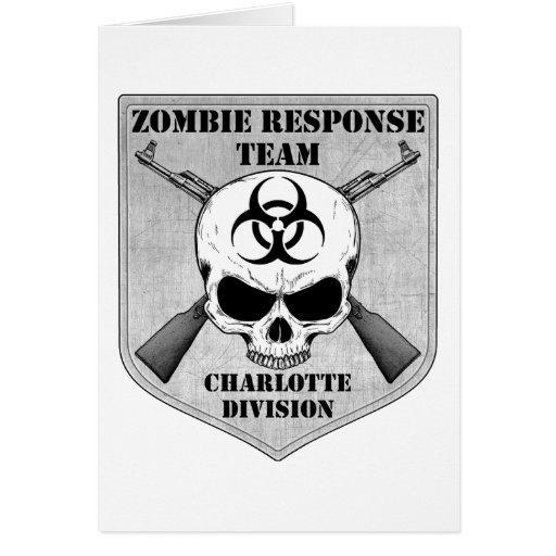 Equipo de la respuesta del zombi: División de Char Tarjetas