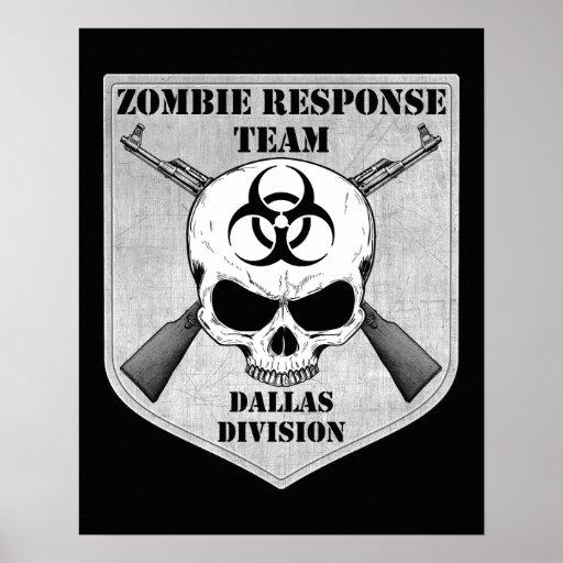 Equipo de la respuesta del zombi: División de Dall Póster