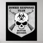 Equipo de la respuesta del zombi: División de Denv Posters