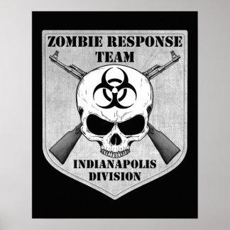 Equipo de la respuesta del zombi: División de Indi Póster