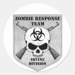 Equipo de la respuesta del zombi: División de Irvi Etiquetas Redondas