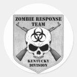 Equipo de la respuesta del zombi: División de Kent Pegatinas Redondas
