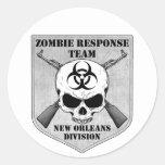 Equipo de la respuesta del zombi: División de New  Pegatinas Redondas