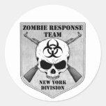 Equipo de la respuesta del zombi: División de Nuev Pegatina Redonda