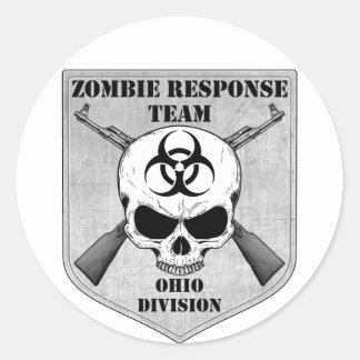 Equipo de la respuesta del zombi: División de Ohio Pegatina Redonda