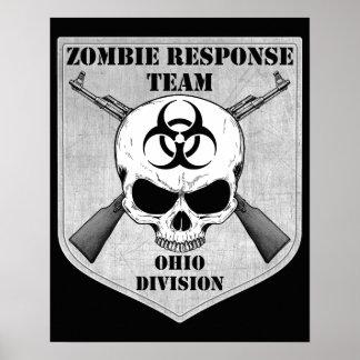 Equipo de la respuesta del zombi: División de Ohio Póster