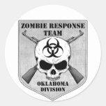 Equipo de la respuesta del zombi: División de Okla Pegatinas Redondas