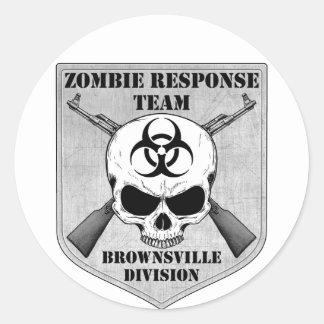 Equipo de la respuesta del zombi: División de Pegatinas Redondas