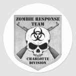 Equipo de la respuesta del zombi: División de Pegatina Redonda
