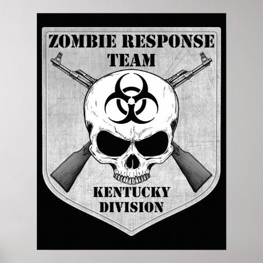 Equipo de la respuesta del zombi: División de Póster