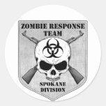 Equipo de la respuesta del zombi: División de Spok Etiquetas Redondas