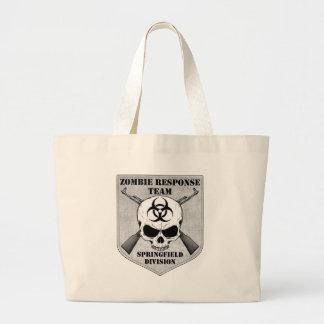 Equipo de la respuesta del zombi: División de Spri Bolsa Lienzo