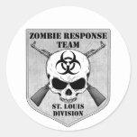 Equipo de la respuesta del zombi: División de St.  Etiquetas Redondas