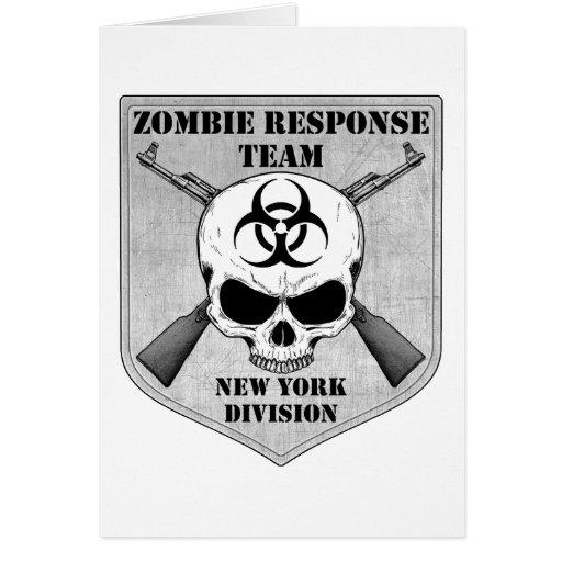 Equipo de la respuesta del zombi: División de Tarjeta De Felicitación