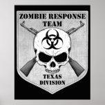 Equipo de la respuesta del zombi: División de Teja Poster
