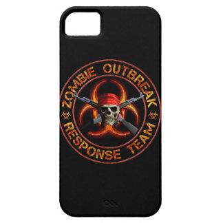 Equipo de la respuesta del zombi iPhone 5 fundas