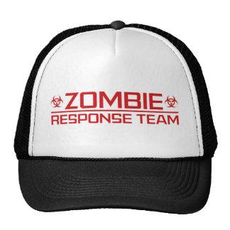 Equipo de la respuesta del zombi gorro