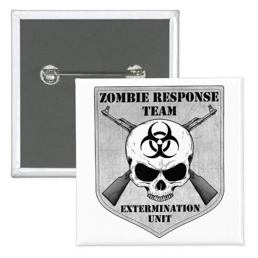 Equipo de la respuesta del zombi pins