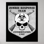Equipo de la respuesta del zombi poster