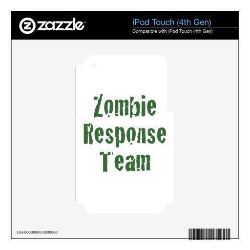 Equipo de la respuesta del zombi iPod touch 4G calcomanías